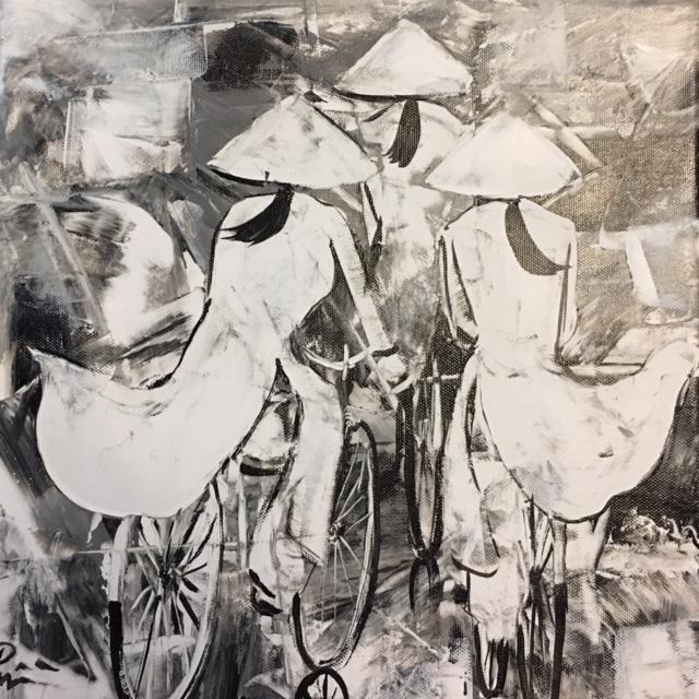 Tranh Sơn Dầu Cô Gái