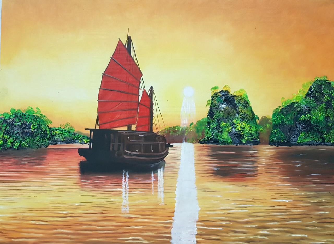 Tranh Sơn Dầu Vịnh hạ Long