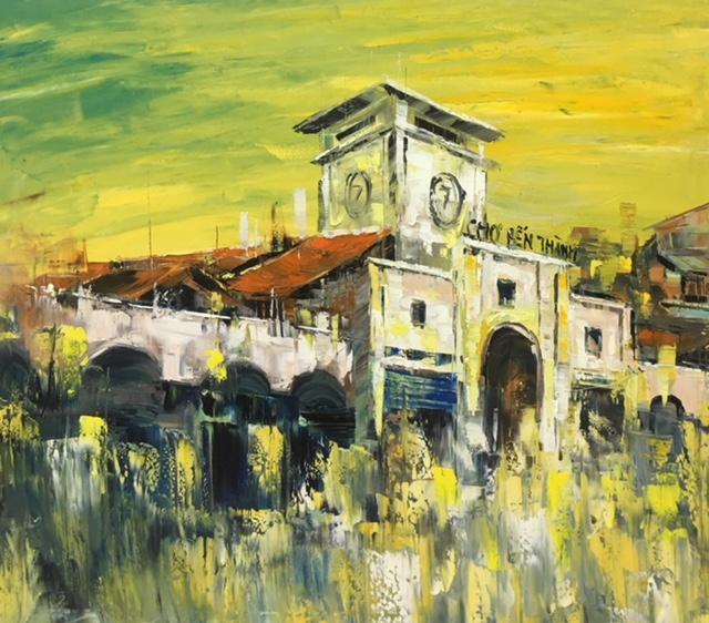 Tranh Sơn Dầu Chợ Bến Thành