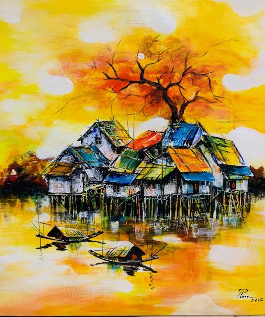 Tranh Sơn Dầu Nhà Kênh