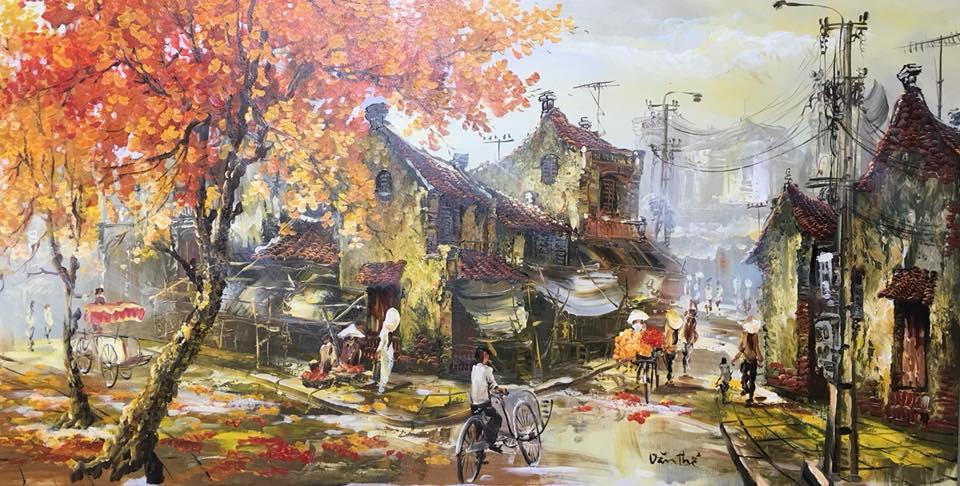 tranh son dau - Xu hướng sử dụng tranh nghệ thuật treo tường